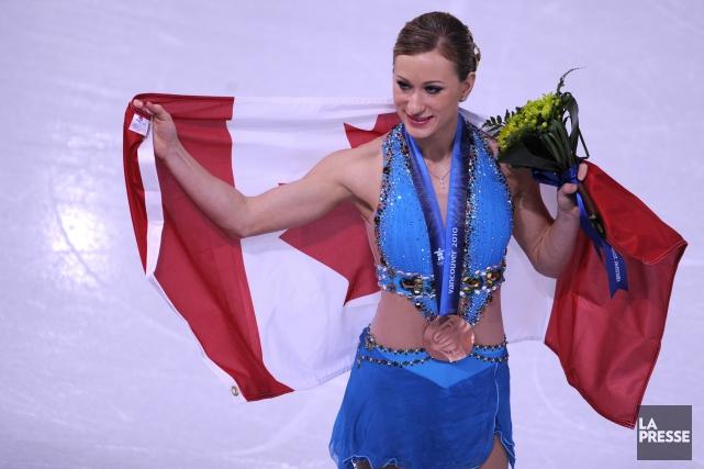 Joannie Rochettea remporté la médaille de bronze aux... (Photo Bernard Brault, archives La Presse)