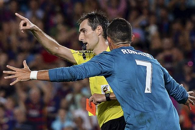 La vedette du Real Madrid, Cristiano Ronaldo, n'était... (AFP, Josep Lago)
