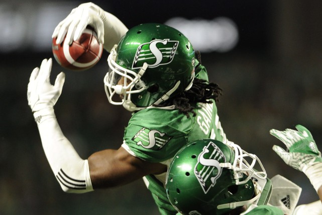 Ed Gainey, des Roughriders de la Saskatchewan, est... (Photo Mark Taylor, PC)