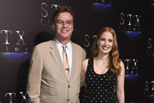 Le premier film d'Aaron Sorkin (à gauche), Molly's... (Photo AP)