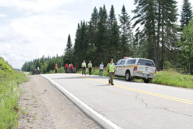 La motocycliste portée disparue dans le secteur du... (Photo: Audrey Tremblay)