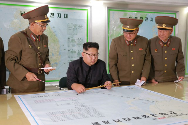 Le jeune dirigeant nord-coréen Kim Jong-un a été... (Photo AFP)