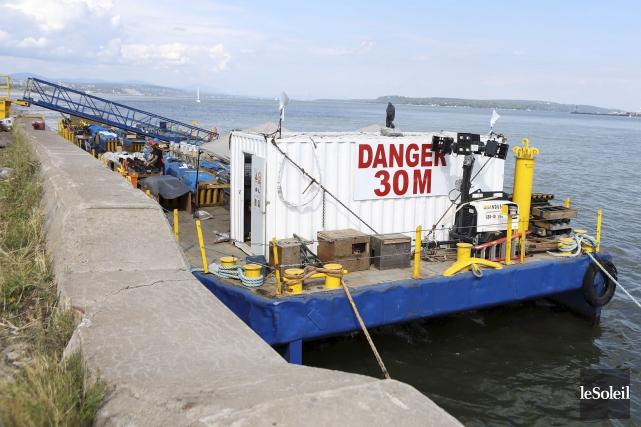 Installée sur une barge, au quai 25 du... (Le Soleil, Caroline Grégoire)
