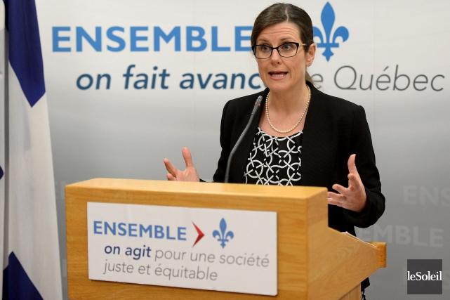 La ministre de la Justice, Stéphanie Vallée, a... (Photothèque Le Soleil, Erick Labbé)