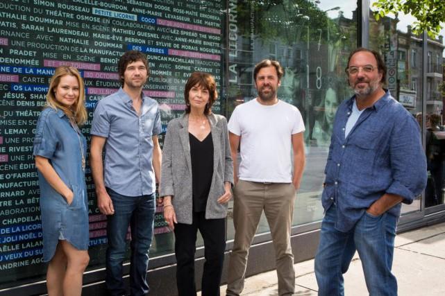 Catherine-Anne Toupin, Maxime Denommée, Micheline Bernard, Bruno Marcil... (PHOTO SIMON GIROUX, LA PRESSE)