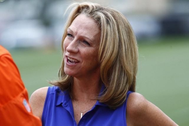 Beth Mowins... (Photo David Zalubowski, AP)