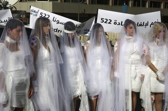 D'autres articles du Code pénal libanais demeurent contestés.... (Photo Hassan Ammar, AP)