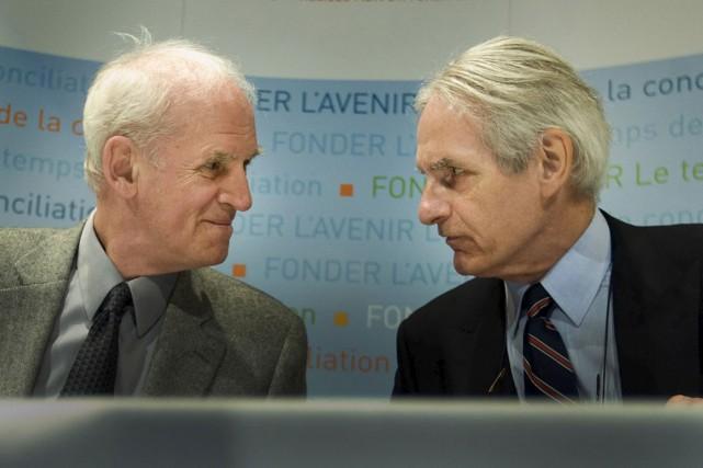 Charles Taylor et Gérard Bouchard... (Archives, La Presse)