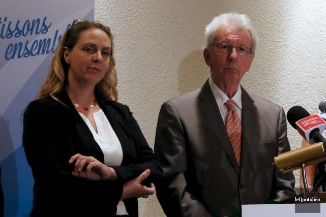 Hélène Tremblay a participé à une annonce en... (Archives Le Quotidien, Yohann Gasse)