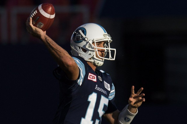 Le quart-arrière des Argonauts de Toronto, Ricky Ray.... (Photo Mark Blinch, PC)