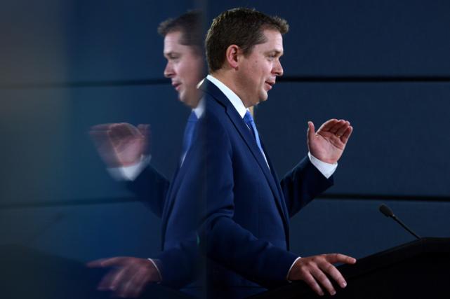Le chef du Parti conservateur du Canada, Andrew... (Sean Kilpatrick, La Presse canadienne)