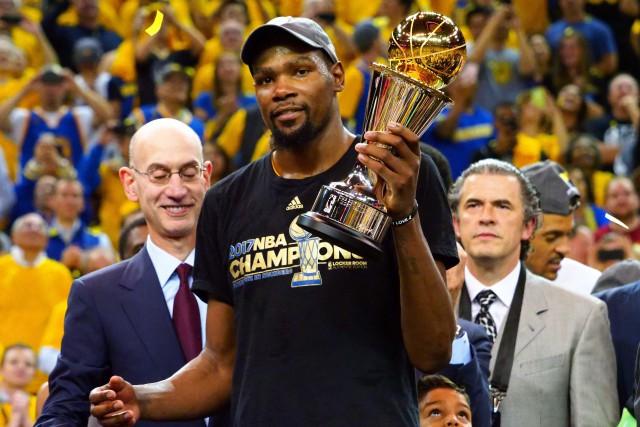 Kevin Durant a élu meilleur joueur (MVP) de... (PHOTO REUTERS)