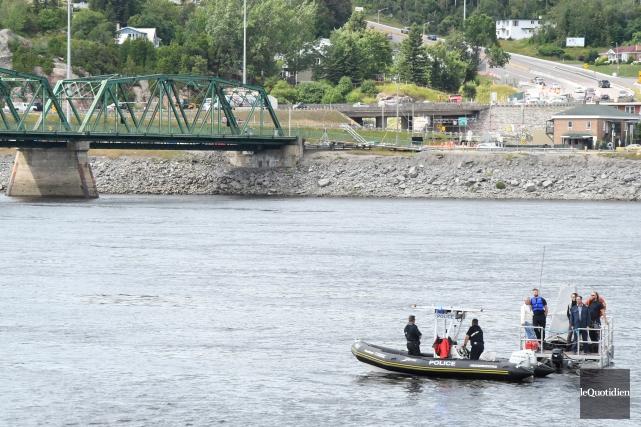 La Sécurité publique de Saguenay (SPS) est intervenue... (Photo Le Quotidien, Michel Tremblay)