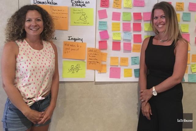 Deux enseignantes de Laval, Nadia Podhorecki et Geneviève... (La Tribune, Isabelle Pion)