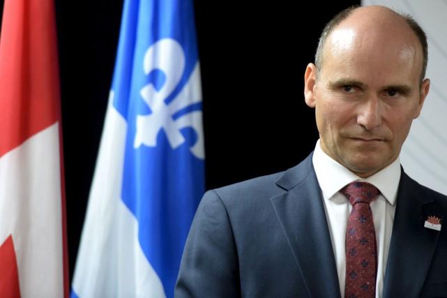 Jean-Yves Duclos croit que les discours d'extrême droite... (Le Soleil, Erick Labbé)