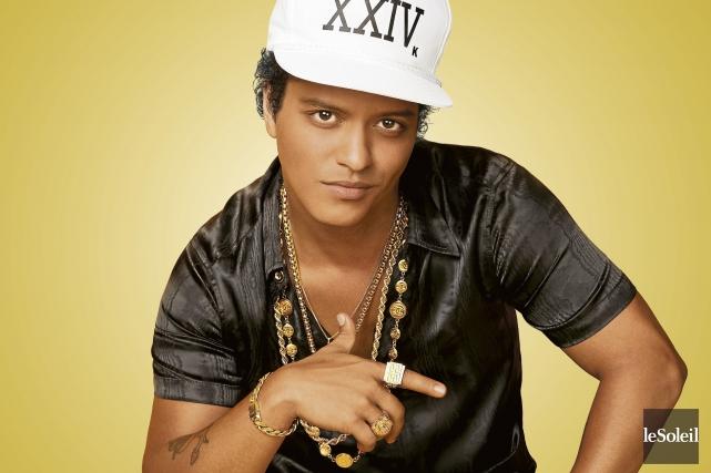 Bruno Mars est loin d'avoir eu un succès... (Infographie Le Soleil (photo Kai Z Feng))