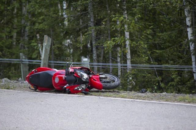 L'accident est survenu vers 15hh jeudi après-midi.... (Olivier Croteau, Le Nouvelliste)