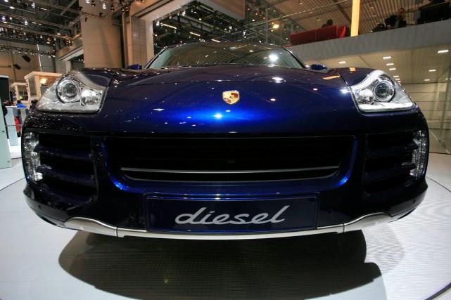 Le Porsche Cayenne diesel, lors de son dévoilement... (photo : REUTERS)