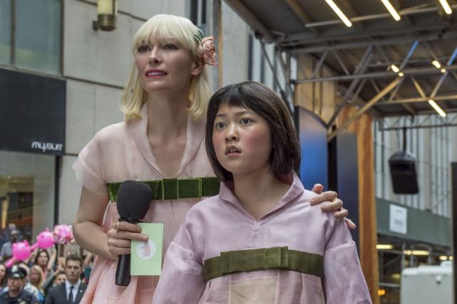 Tilda Swinton et Seo-Hyun Ahn dans une scène... (AP, fournie par Netflix)