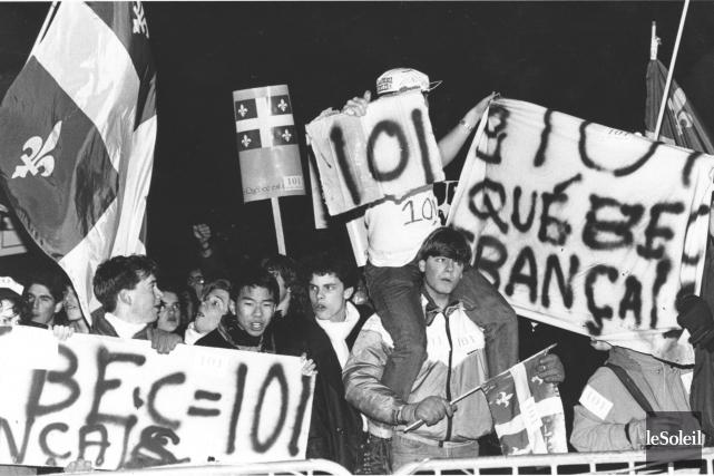 Une manifestation en faveur du maintien de la... (Archives Le Soleil)