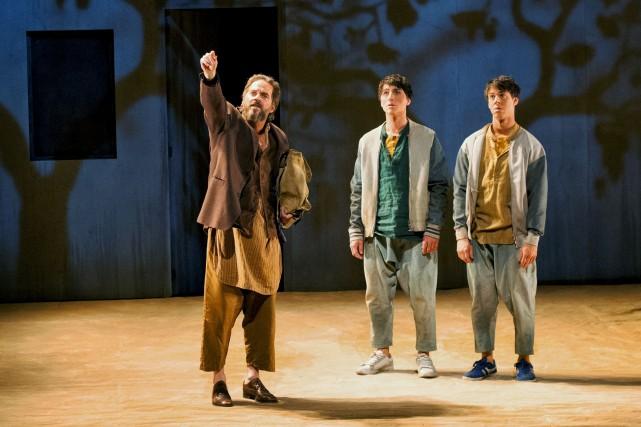 Les acteurs Daniel Parent, Gabriel Cloutier-Tremblay et Sébastien... (Courtoisie, Gunther Gamper)