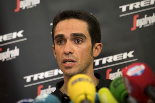 L'Espagnol Alberto Contador aimerait signer une dernière victoire... (Agence France-Presse)