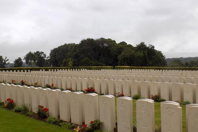 Le cimetière militaire canadien de Dieppe, situéà Hautot-sur-Mer... (IMAGE TIRÉE TIRÉE DU SITE COMMONWEALTH WAR GRAVES COMMISSION)