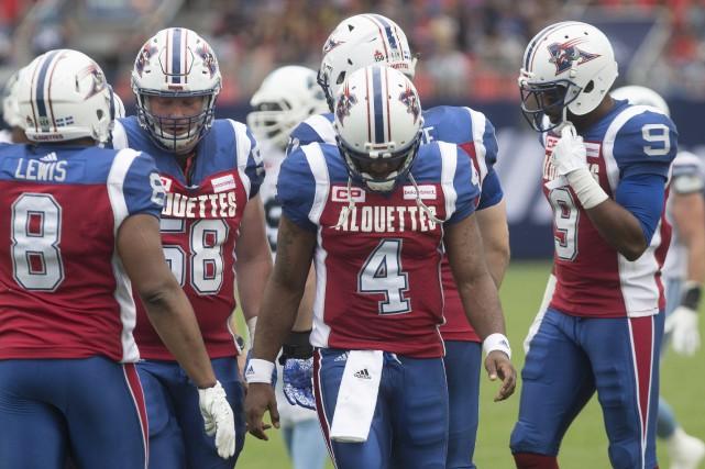 Le seul touché des Alouettes est survenu au... (Photo La Presse canadienne)