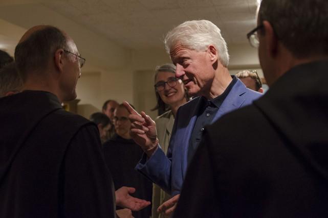 La famille Clinton a visité l'Abbaye Saint-Benoît-Du-Lac lors... (Photo Spectre Média, Stéphanie Vallières)