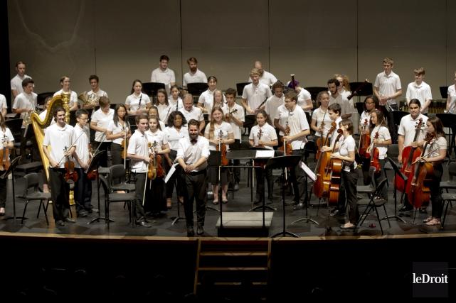 Les membres de l'Orchestre des jeunes du 150e,... (Martin Roy, Le Droit)