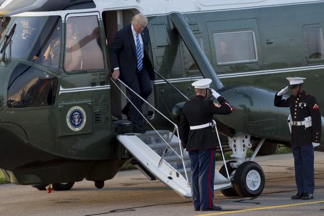 La semaine dernière, le président américain avait clamé... (AFP, Saul Loeb)