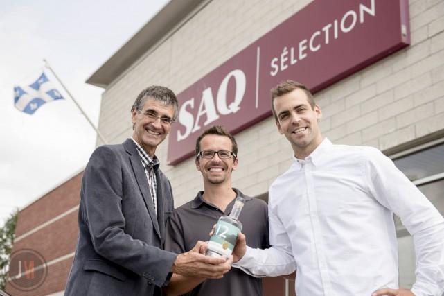 Serge, Benoît et Jean-Philippe Bouchard ont fondé la... (Courtoisie, Jean-Michel Décoste)