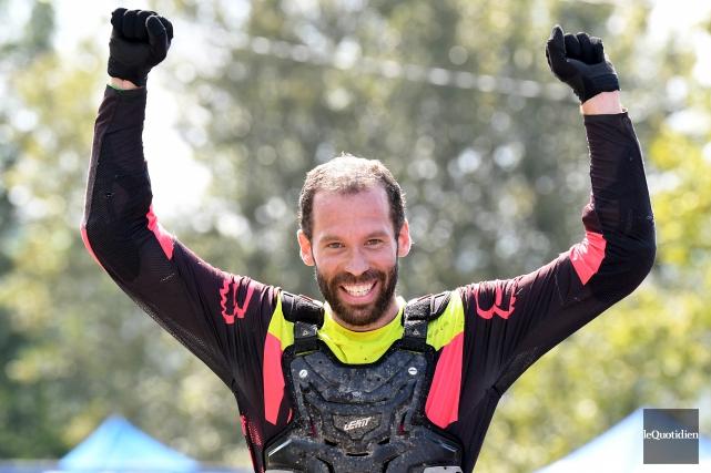 Guillaume Laramée a remporté l'épreuve de descente vélo... (Le Quotidien, Rocket Lavoie)