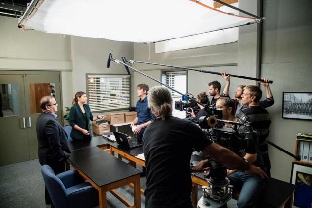 Le plateau de tournage du téléroman District 31.... (PHOTO ALAIN ROBERGE, ARCHIVES LA PRESSE)
