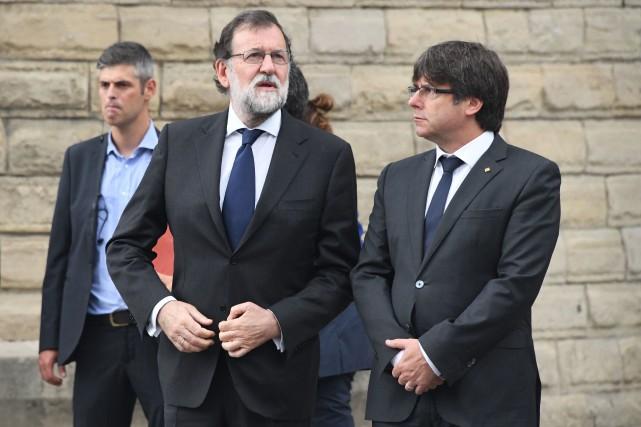 Le chef du gouvernement espagnol, Mariano Rajoy, etle... (PHOTO AFP)