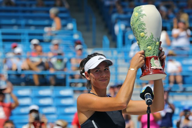 Garbine Muguruza a remporté le tournoi de Cincinnati,... (Photo Aaron Doster, USA Today Sports)