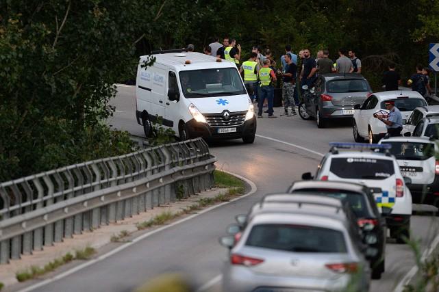 L'auteur présumé du sanglant attentat de Barcelone, Younès... (PHOTO JOSEP LAGO, AGENCE FRANCE-PRESSE)