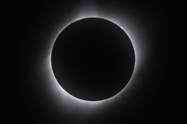 L'éclipse totale du 21 août 2017.... (Photo AFP)