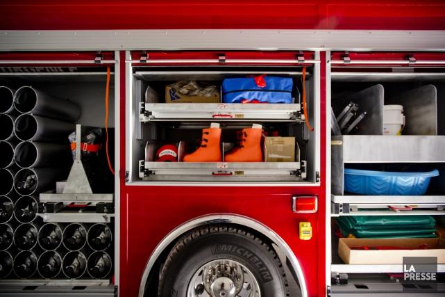 Lennoxville aura sa nouvelle caserne de pompiers avant... (Archives, La Presse)