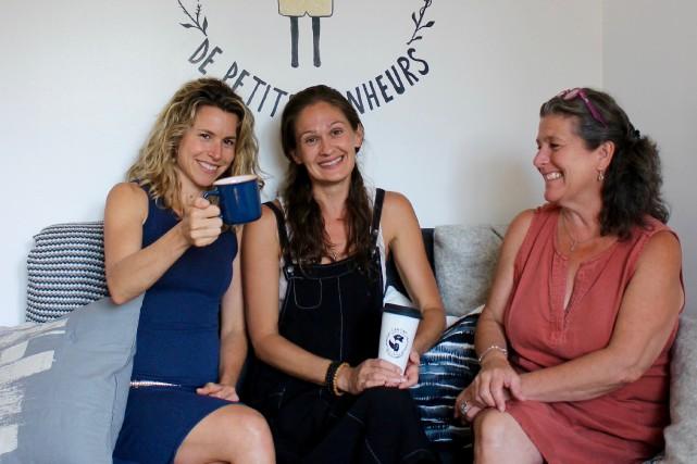 Trois fondatrices de La fabrique de petits bonheurs....