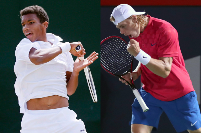 Félix Auger-Aliassime et Denis Shapovalov... (Photos AP et USA Today)