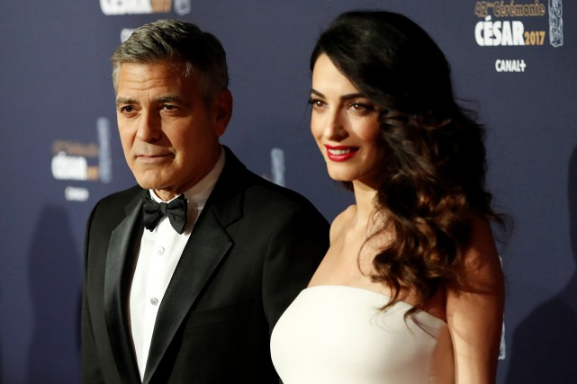 Amal et George Clooney.... (PHOTO REUTERS)