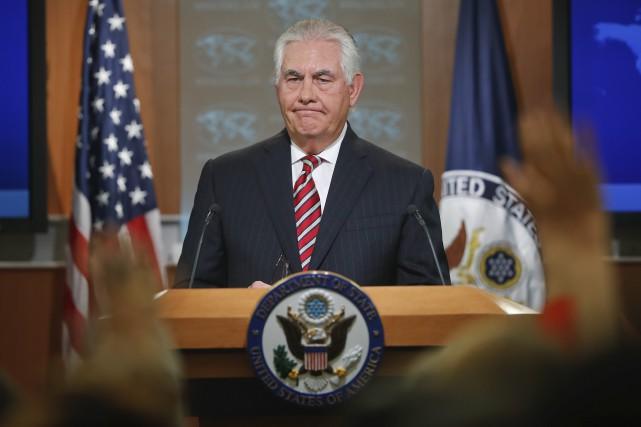 Le secrétaire d'État américain Rex Tillerson.... (AP, Pablo Martinez Monsivais)