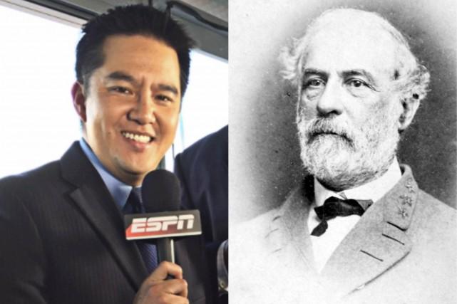 À gauche,Robert Lee, commentateur sportif à la chaîne... (Infographie Le Soleil)