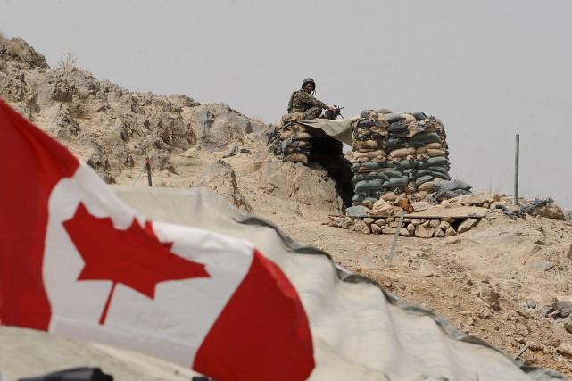 Les derniers militaires canadiens ont quitté l'Afghanistan il... (Photo archives AFP)