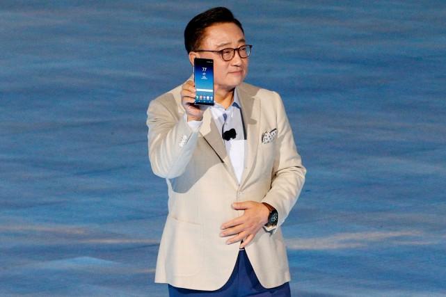 DJ Koh a présenté leNote 8 lors d'un... (PHOTO REUTERS)