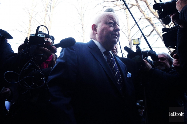 Le sénateur Mike Duffy a été acquitté de... (Archives Le Droit, Étienne Ranger)