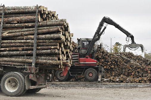 Alors que les négociations sur le bois d'oeuvre avec les États-Unis traînent en... (Archives, La Presse Canadienne)