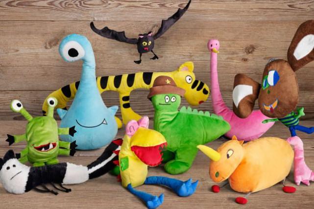 Des peluches faites a partir de dessins d'enfants... (Tirée du site Web d'IKEA)
