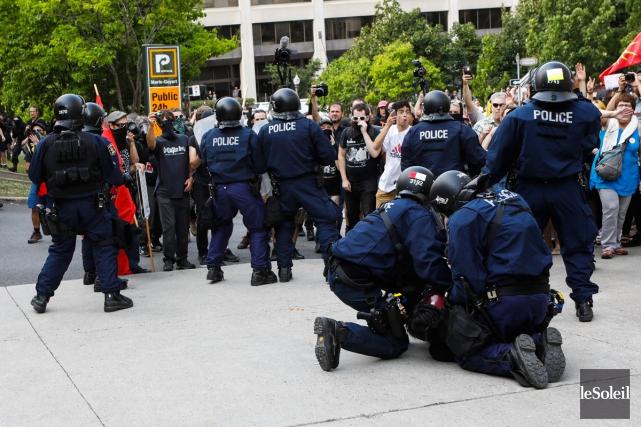 Des manifestations ont eu lieues le 20 août... (archives Le Soleil)